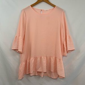 Pleione pink blouse top
